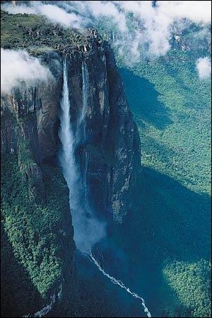 Géographie : avec 979 mètres de hauteur, le Salto Angel est la plus haute chute d'eau du monde. Dans quel pays se trouve-t-elle ?