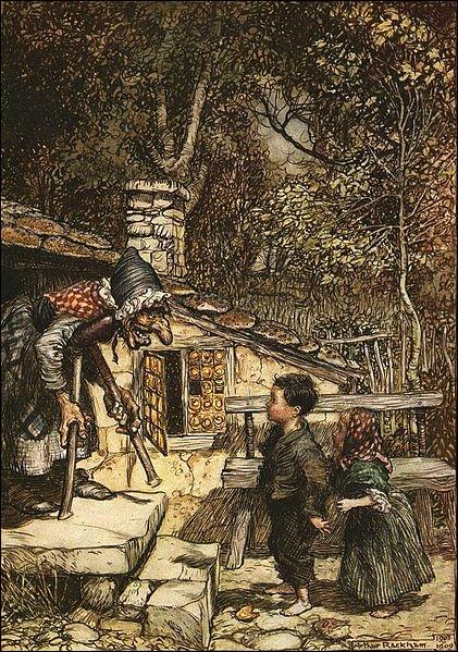 Arthur Rackham est un artiste britannique qui illustra ce conte des frères Grimm, en 1909 :