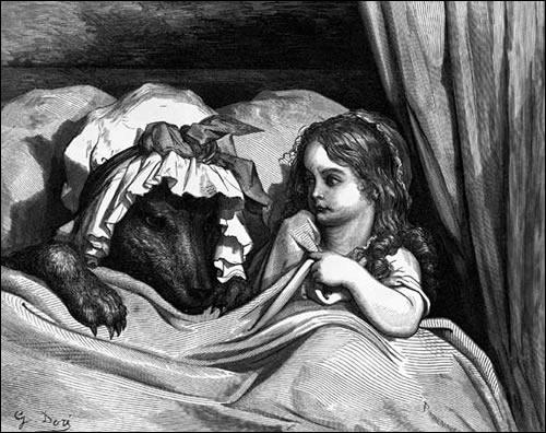 Qui est l'auteur du conte illustré par Gustave Doré ?