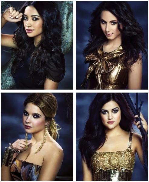 Au début Aria, Spencer, Hanna et Emily pensent que A est...