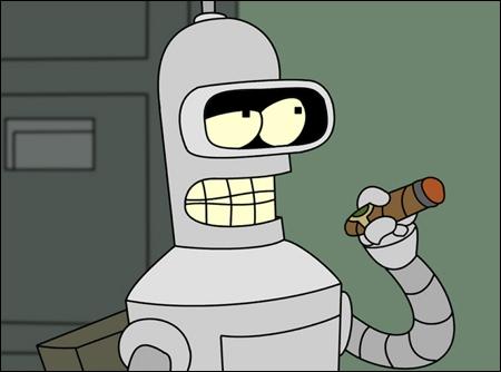 Le mot que Bender dit le moins souvent est  Merci .