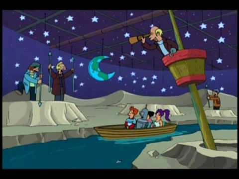 Les Baleiniers de la lune chantent ceci :  Baleiniers sur la Lune, on attend pour des prunes, car même s'il y a des baleines, on est toujours à la traîne !  .