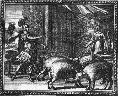 Qui transforma les compagnons d'Ulysse en cochons ?