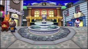 Est-ce que dans le jeu  Animal Crossing , sur DS, il y a un Centre-ville ?