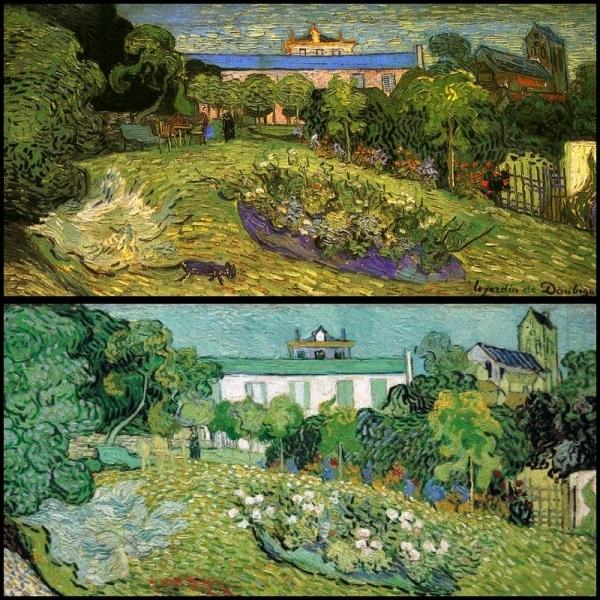 DAUBIGNY fut très apprécié de Van Gogh, à tel point qu'il lui rendit hommage en peignant son  Jardin . L'un des exemplaires de ce tableau a été suspecté d'être un faux. Pourquoi ?