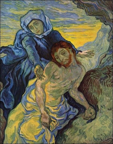 Van Gogh disait que sa façon de peindre était plus inspirée de celle de DELACROIX que de celle des impressionnistes. Comment s'appelle cette lithographie improvisée à partir d'une œuvre de Delacroix ?