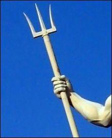 Le fameux trident de Poséidon provient :