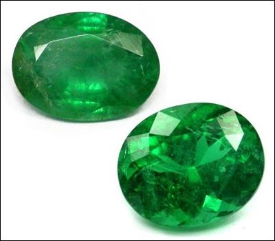 Il y a de nombreuses pierres vertes. Mais laquelle n'est pas verte parmi ces propositions ?