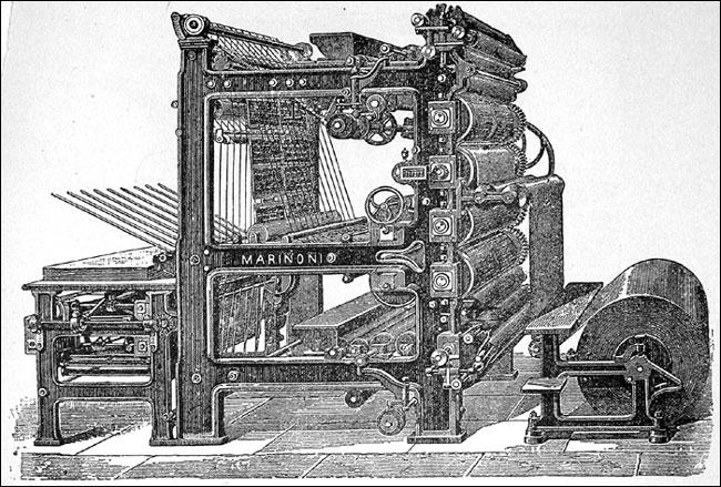 Quel journal a, au dix-neuvième siècle utilisé la première rotative ?