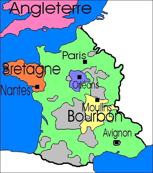 Le Moyen Âge des Valois, de 1328 à 1589. Louis XI reconstruit le royaume après la guerre de Cent ans. Quelles sont les 4 provinces avec lesquelles il augmente le royaume ?