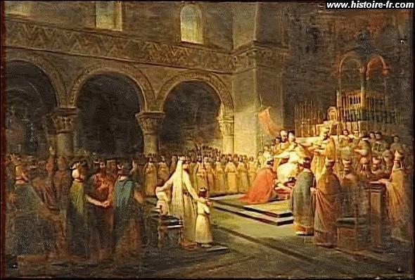 Le Moyen Âge à l'époque carolingienne, de 752 à 987. Avec quel roi la dynastie des carolingiens est-elle née ?