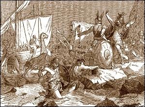 À la faveur de quelle situation les Normands peuvent-ils envahir l'empire carolingien ?