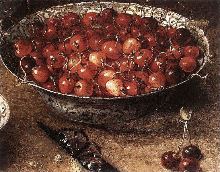 Merveilleuse finesse dans le détail et attirante transparence des fruits peints. Voilà l'une des œuvres d'une figure marquante des premiers temps de la nature morte en Flandre.