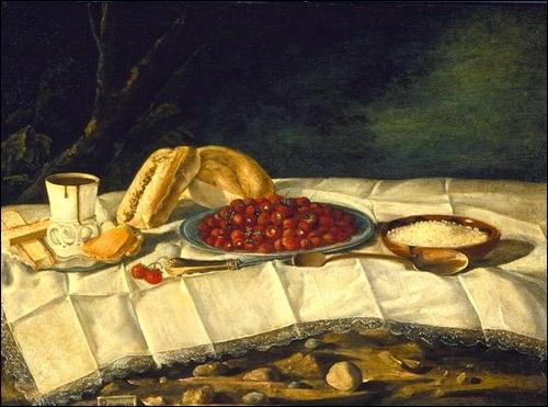 Nature morte aux fraises et chocolat  est l'œuvre de :