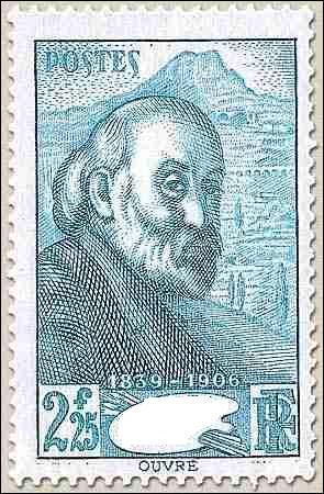 Qui est l'artiste représenté sur ce timbre ?