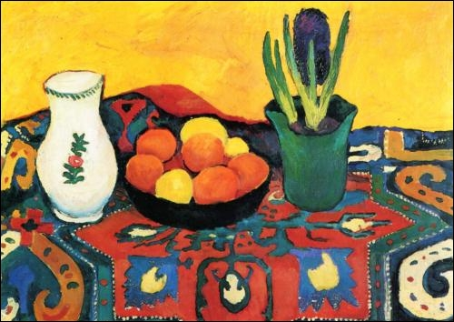Nature morte, jacinthe, tapis, 1910