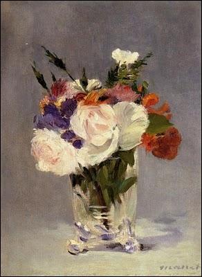 Bouquet en vase de cristal, 1882