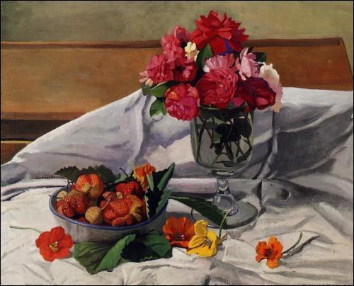 Fleurs et fraises, 1920