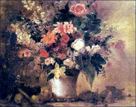 Nature morte avec fleurs et fruits, 1842