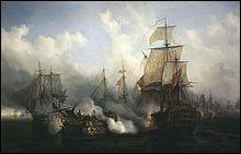 D'où la flotte anglaise venait-elle ?