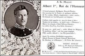 Le roi Albert Ier de Belgique est le père d'Albert II, père de l'actuel roi des Belges (Philippe).