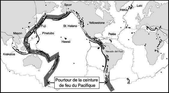 Sur quelle chaîne volcanique le Japon est-il situé ?