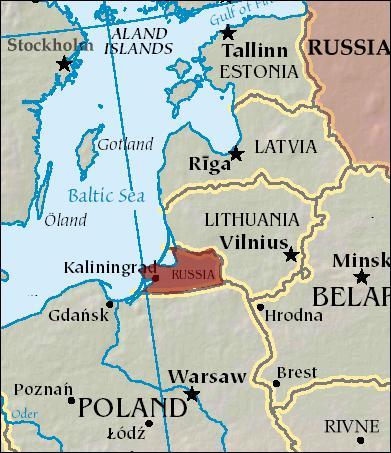 A la suite de quel grand conflit la Russie a t-elle obtenu l'oblast de Kaliningrad (plus connu sous le nom de Russie baltique), enclave russe située entre la Lituanie et la Pologne ?