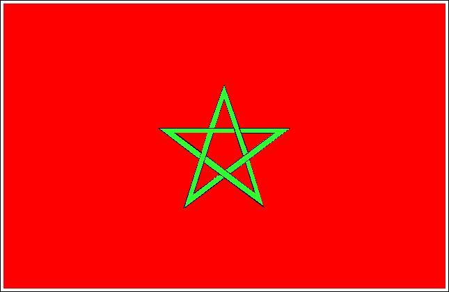 Pays d'une superficie d'environ 446. 550 km2 ayant pour dialecte le darija, j'ai opté pour ces couleurs nationales :