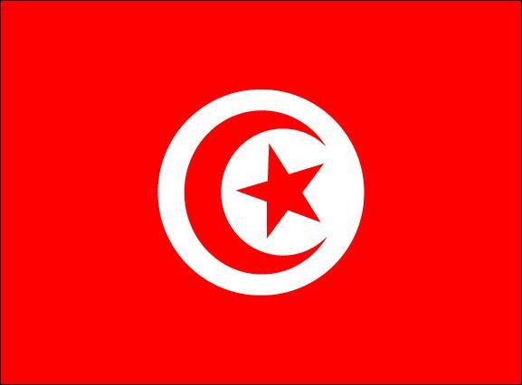 Plus petit État du Maghreb, je me situe dans l'extension de la chaîne de l'Atlas et plus de 30% de ma superficie est recouvert par le Sahara. Mon seul cours d'eau alimenté de façon continue est la Medjerda. Vous n'aurez aucun mal à reconnaître mon drapeau, je pense :