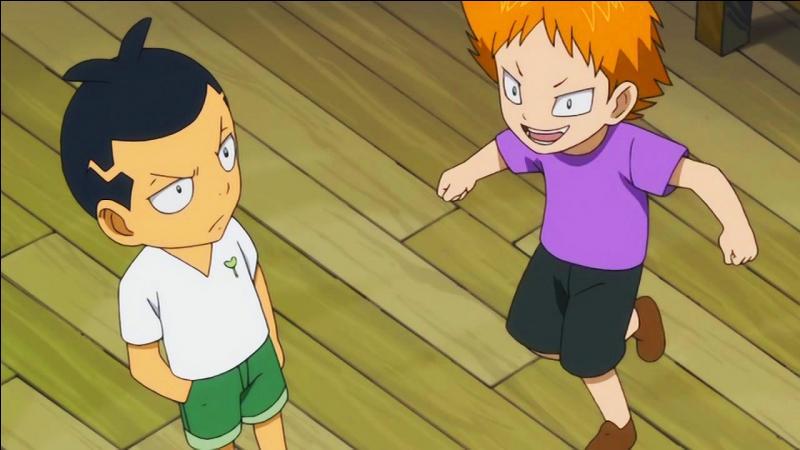Qui est ce petit garçon qui, plus tard, utilisera la magie des plantes ? (celui de gauche)