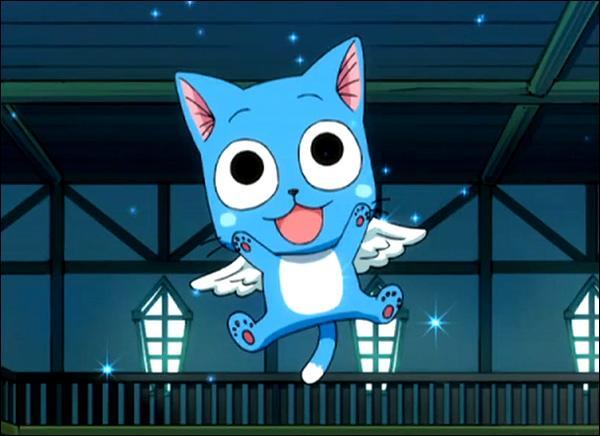 Qui est ce petit chat bleu qui accompagne Natsu ?