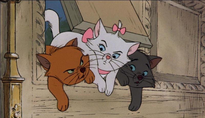 Dans le dessin animé  Les Aristochats , comment se nomme la chatte blanche qu'on peut voir au milieu de la photo ?