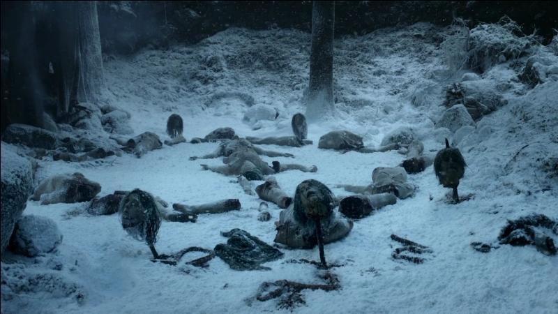 Ser Waymar Royce, Will et Gared, trois membres de la Garde de Nuit, se font attaquer par de mystérieux êtres décharnés au-delà du mur. Qui sont-ils ?
