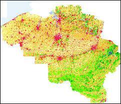 En 2012, la densité de population en France fut estimée à environ 112 habitants/km². Et en Belgique, à votre avis ? Environ …