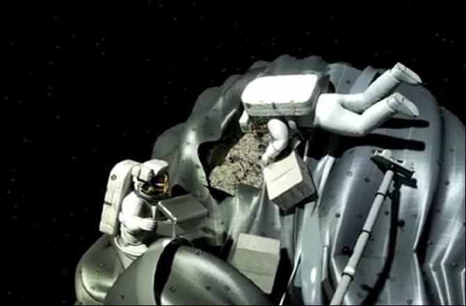 L'Univers livre aussi à notre curiosité des astéroïdes, voyageurs pierreux de tailles diverses contenant métaux et glaces. Quel est le projet de la NASA annoncé tout récemment (Avril 2013) par le Président Obama, par rapport à ces astres particuliers ?