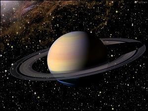 Les anneaux de Saturne sont uniques dans le système solaire. Ils cernent si joliment la Planète Saturne, une Géante gazeuse, volumineuse (9 X la Terre) mais peu dense, par rapport aux planètes telluriques, comme la Terre, Mars... Ils sont composés surtout de... ?