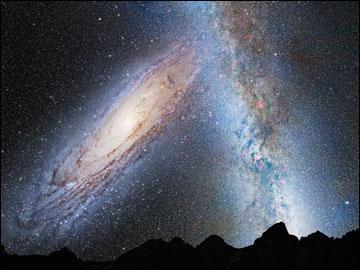 L'espace est en mouvement et les astres qui y évoluent également. De fait, il a été déterminé que dans environ 4 milliards d'année, notre galaxie... ?