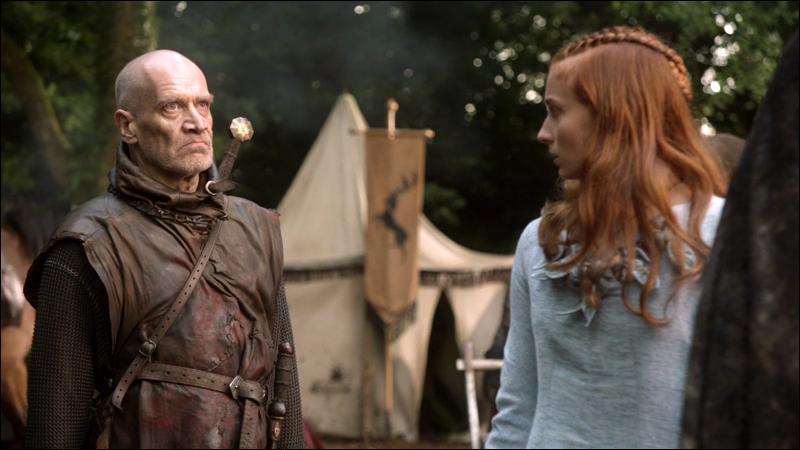 Le cortège royal de retour vers Port-Réal est arrivé à proximité du Trident. Sansa rencontre alors Ilyn Payne, quel statut possède-t-il ?