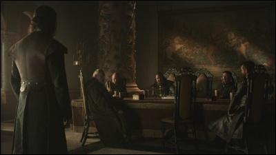 L'intendant du roi informe Eddard que sa présence est requise à une séance du Conseil restreint. Qui est absent de cette réunion ?