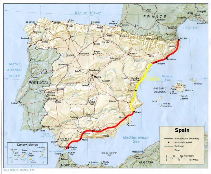 Quelle chaîne de montagnes fait frontière entre la France et l'Espagne ?
