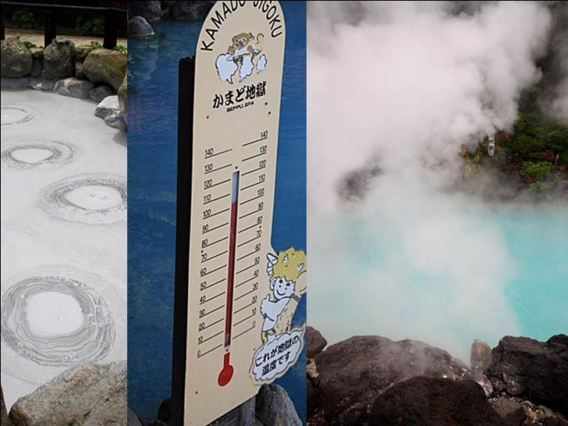 La ville de Beppu est aussi réputée pour ses enfers. Ce sont des sources chaudes dans lesquelles on ne peut pas se baigner car ...