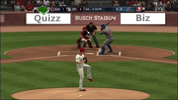 C'est un célèbre sport américain, le baseball. C'est un jeu qui s'appelle...