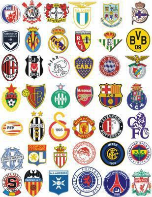 Écussons de grands clubs européens de football