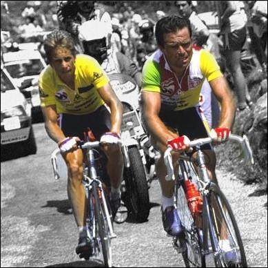 A quelle équipe appartenaient Greg Lemon et Bernard Hinault, lors de leur mémorable bras de fer amical sur les pentes de l'Alpe d'Huez en 1986 ?