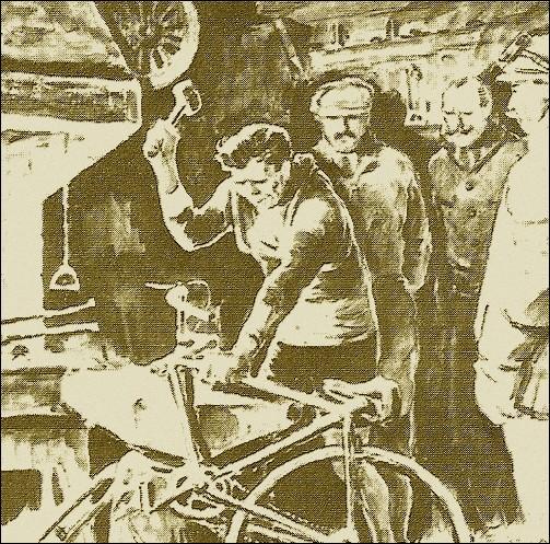 N'ayant droit à aucune aide, dans quel village des Pyrénées Eugène Christophe répare-t-il sa fourche de vélo cassée en 1913 ?