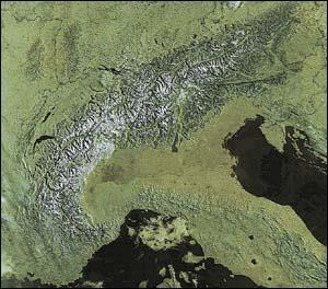 Ce massif montagneux est au coeur de l'Europe.
