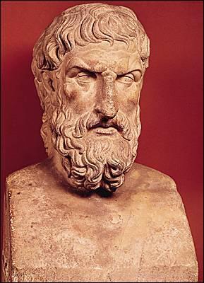 Ce philosophe grec du 4ème siècle avant J. C. a écrit sur le bonheur et le plaisir de la vie. Qui est-ce ?
