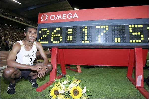 Il a parcouru 10 000 mètres en 26mn 17s
