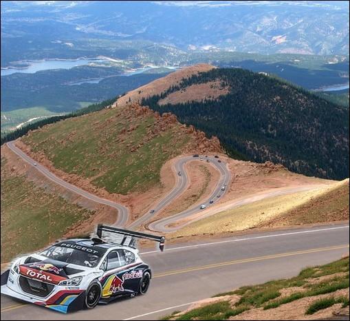 Petite dernière question technique : Quelle est la puissance du moteur de la féroce et bestiale Peugeot 208 T16  Pikes Peak  que pilotera Sébastien Loeb le 30 juin prochain ?