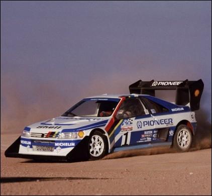 Trois ans plus tard, en 1988 c'est une voiture française, la Peugeot 405 T16 qui l'emporte, mais avec un pilote étranger... .